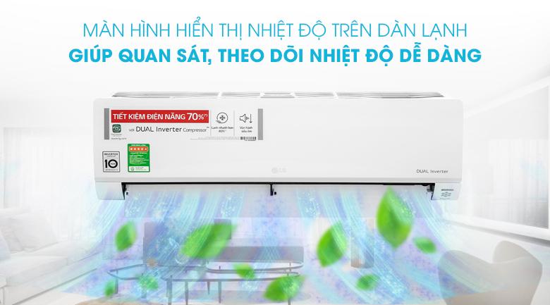 Máy lạnh LG Inverter 1.5 HP V13API1 - Màn hình hiển thị nhiệt độ