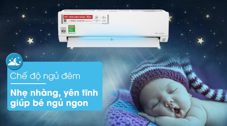 Máy lạnh LG Inverter 1.5 HP V13API1 - Chế độ ngủ đêm