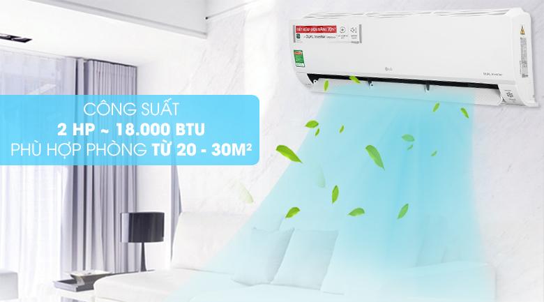 Máy lạnh LG Inverter 2 HP V18API1  - Công suất 2 HP