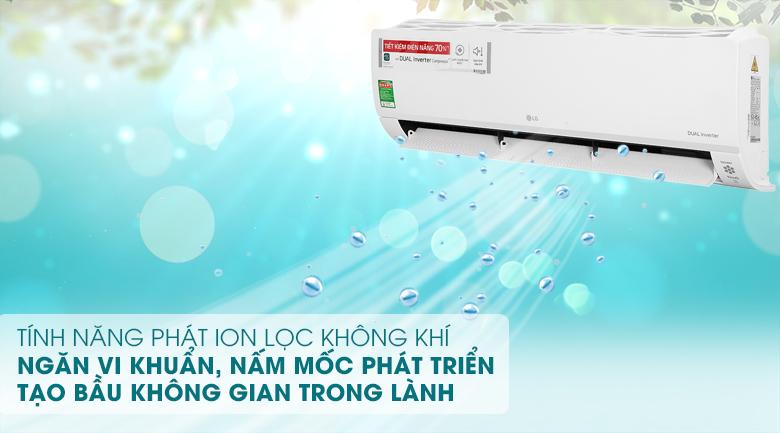 Máy lạnh LG Inverter 2 HP V18API1  - Phát Ion lọc không khí