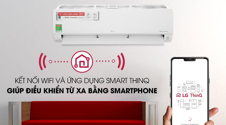 Máy lạnh LG Inverter 2 HP V18API1  - Điều khiển bằng điện thoại
