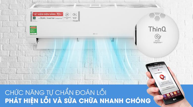 Máy lạnh LG Inverter 2 HP V18API1  - Chẩn doán lỗi