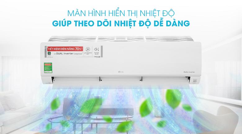 Máy lạnh LG Inverter 2 HP V18API1  - Màn hình hiển thị nhiệt độ
