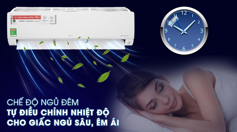 Máy lạnh LG Inverter 2 HP V18API1  - Chế độ ngủ đêm