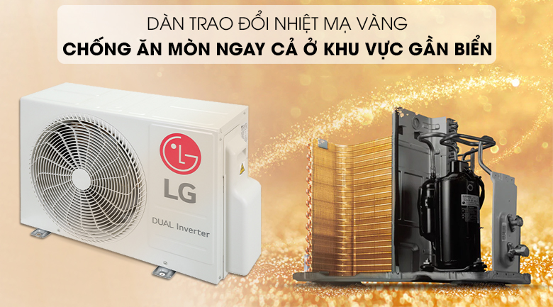 Máy lạnh LG V24ENF1 - tản nhiệt mạ vàng