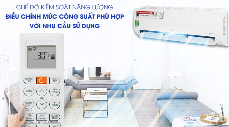 Máy lạnh LG V24ENF1 - kiểm soát năng lượng