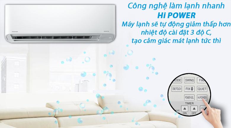 Máy lạnh Toshiba RAS-H18C3KCVG-V - làm lạnh nhanh