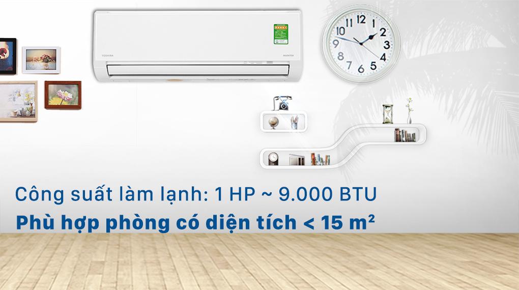 Máy lạnh Toshiba RAS-H10L3KCVG-V - Công suất