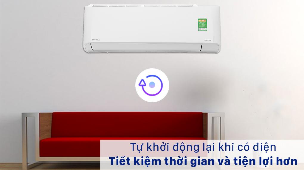 Máy lạnh Toshiba Inverter 12000 BTU RAS-H13L3KCVG-V-Tiện lợi với chức năng tự khởi động lại khi có điện
