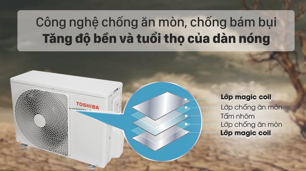 Máy lạnh Toshiba RAS-H18L3KCVG-V - bảo vệ dàn nóng