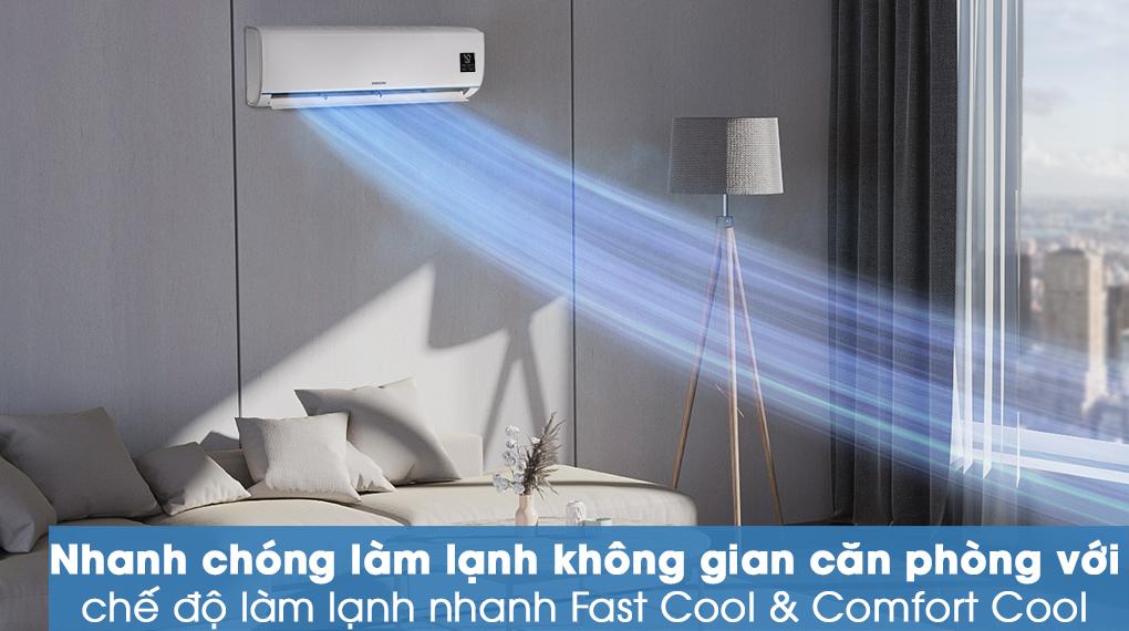 Máy lạnh Samsung AR09TYHQASINSV - làm lạnh tức thì với chế độ Fast Cool & Comfort Cool