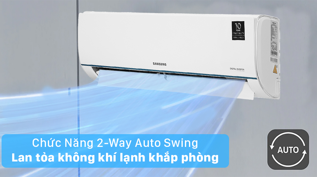 Máy lạnh Samsung AR09TYHQASINSV - Tự động đảo gió