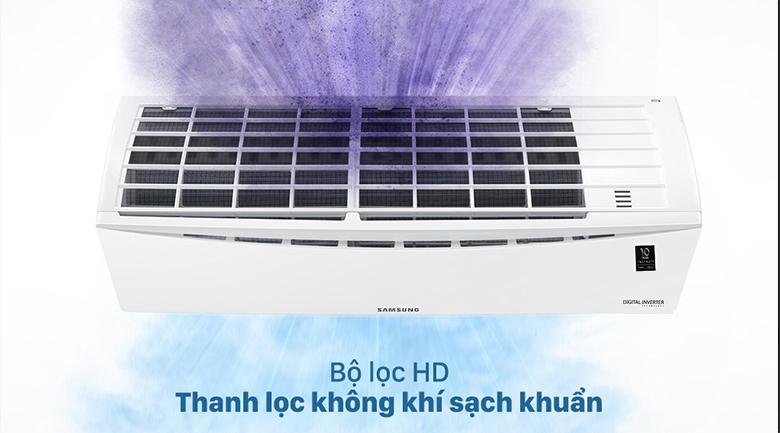 Máy lạnh Samsung Inverter 1 HP AR09TYHQASINSV - Bộ lọc HD