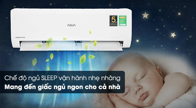 Máy lạnh Aqua Inverter 1HP AQA-KCRV10WNZA - Chế độ ngủ đêm