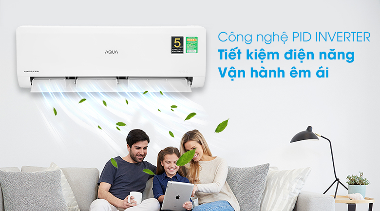 Máy lạnh Aqua Inverter 1HP AQA-KCRV10WNZA - Inverter tiết kiệm điện