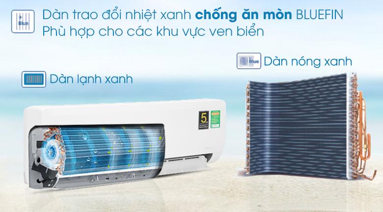 Chống ăn mòn Blue Fin - Máy lạnh Aqua Inverter 1HP AQA-KCRV10WNZA