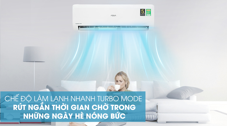 Máy lạnh Aqua AQA-KCRV13WNZA - Turbo Mode