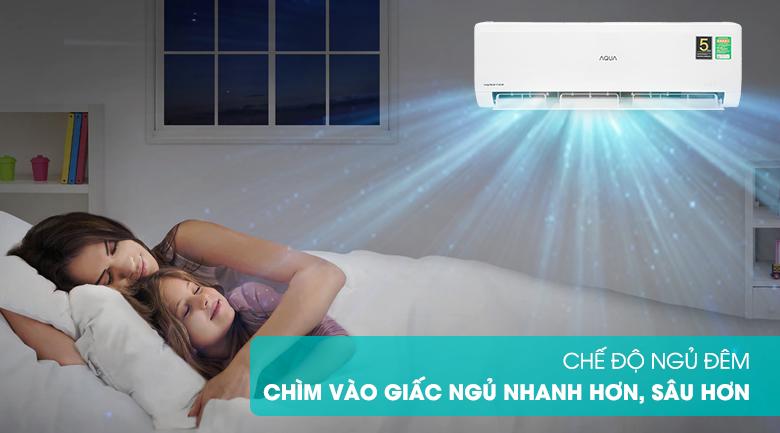 Máy lạnh Aqua AQA-KCRV13WNZA - chế độ ngủ đêm