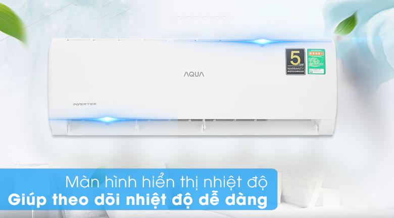 Máy lạnh Aqua Inverter 9200 BTU AQA-KCRV10TK - Màn hình hiển thị nhiệt độ