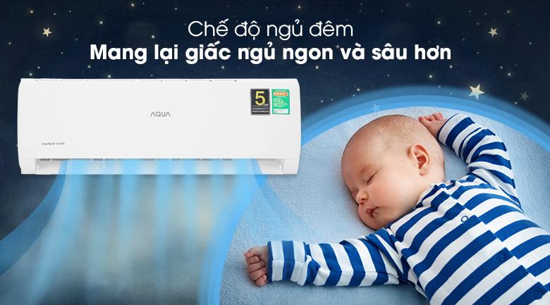Máy lạnh Aqua Inverter 9200 BTU AQA-KCRV10TK - Chế độ ngủ đêm