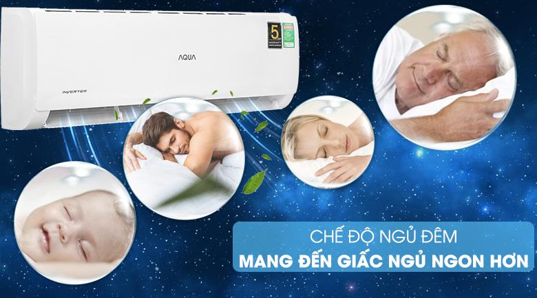 Máy lạnh Aqua AQA-KCRV13TK - chế độ ngủ đêm
