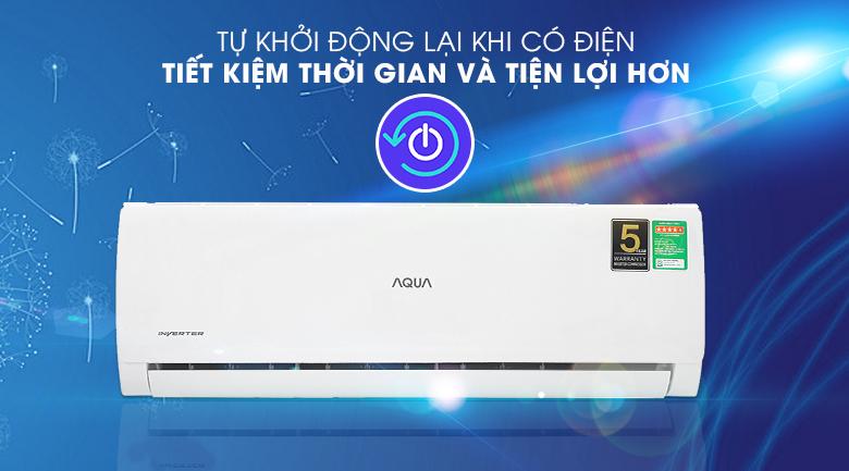 Máy lạnh Aqua AQA-KCRV13TK - tự khởi động lại