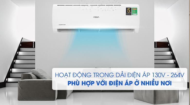 Máy lạnh Aqua AQA-KCRV13TK - dải điện áp rộng