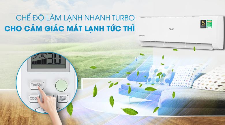Máy lạnh Aqua Inverter 2 HP AQA-KCRV18TK - Làm lạnh nhanh Turbo