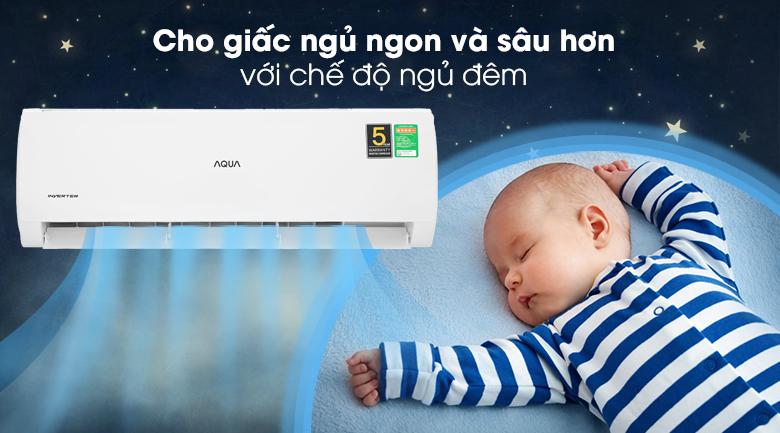 Máy lạnh Aqua Inverter 2 HP AQA-KCRV18TK - Chế độ ngủ đêm