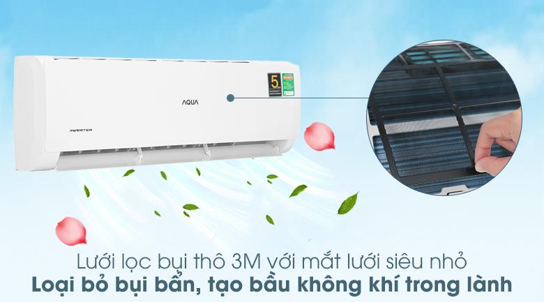 Máy lạnh Aqua Inverter 2 HP AQA-KCRV18TK - Lưới lọc bụi thô 3M