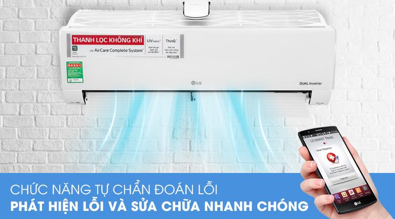 Máy lạnh LG Inverter 9200 BTU V10APFUV-Tiết kiệm thời gian sửa chữa nhờ chức năng tự chuẩn đoán lỗi