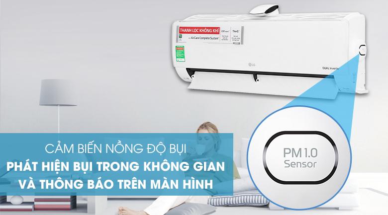 Máy lạnh LG Inverter 9200 BTU V10APFUV - cảm biến nồng độ bụi