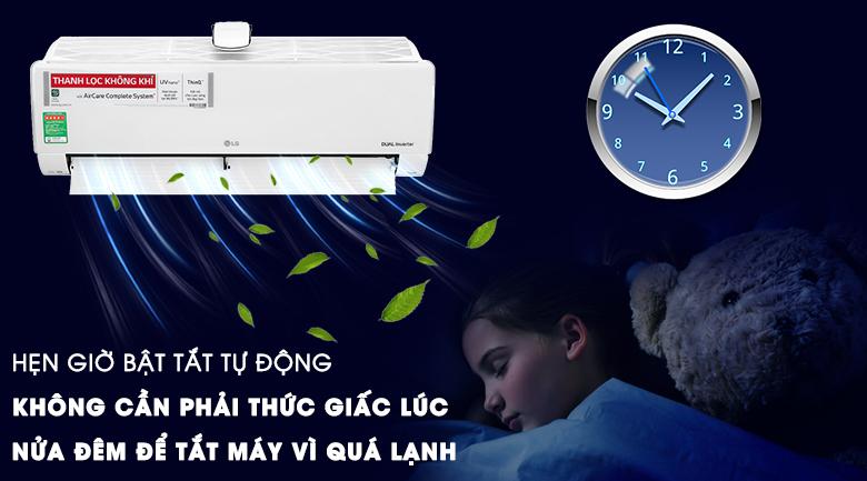 Máy lạnh LG Inverter 9200 BTU V10APFUV - Hẹn giờ bật tắt máy