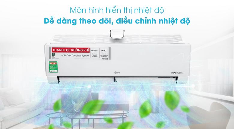 Màn hình hiển thị nhiệt độ - Máy lạnh LG Inverter 12000 BTU V13APFUV