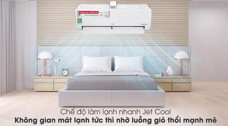 Chế độ làm lạnh nhanh Jet Cool - Máy lạnh LG Inverter 12000 BTU V13APFUV