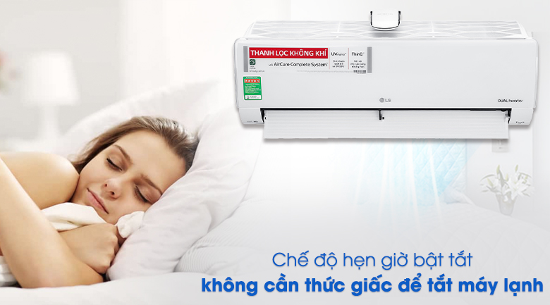 Hẹn giờ bật tắt - Máy lạnh LG Inverter 12000 BTU V13APFUV