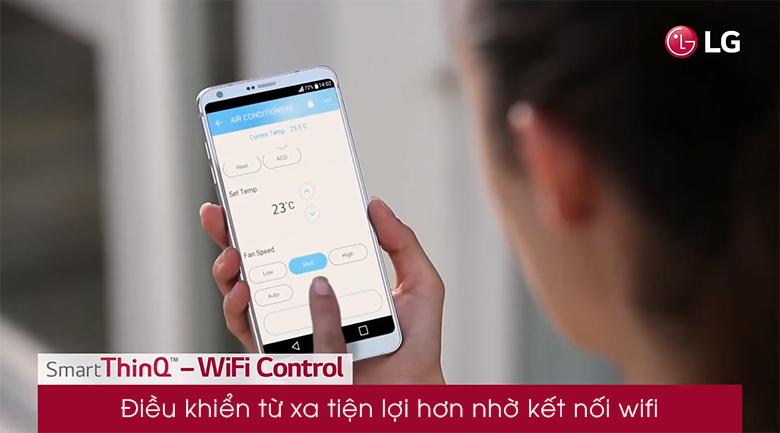 Kết nối wifi - Máy lạnh LG Inverter 12000 BTU V13APFUV
