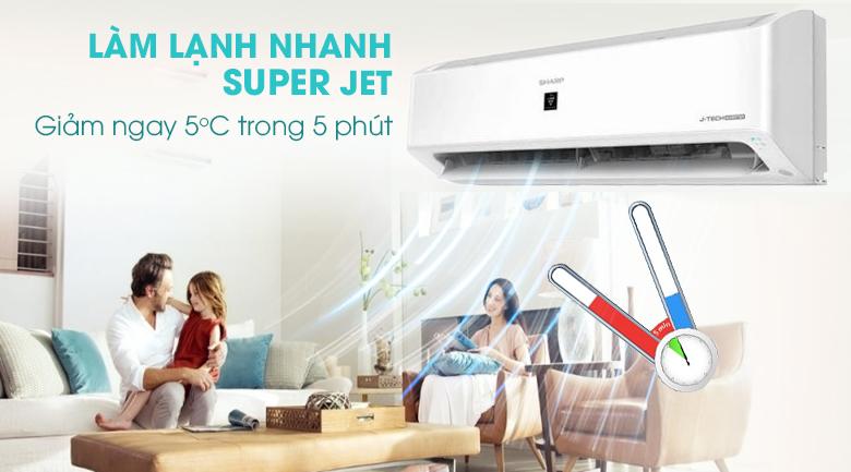 Làm lạnh nhanh  - Máy lạnh Sharp Inverter 1 HP AH-XP10YHW