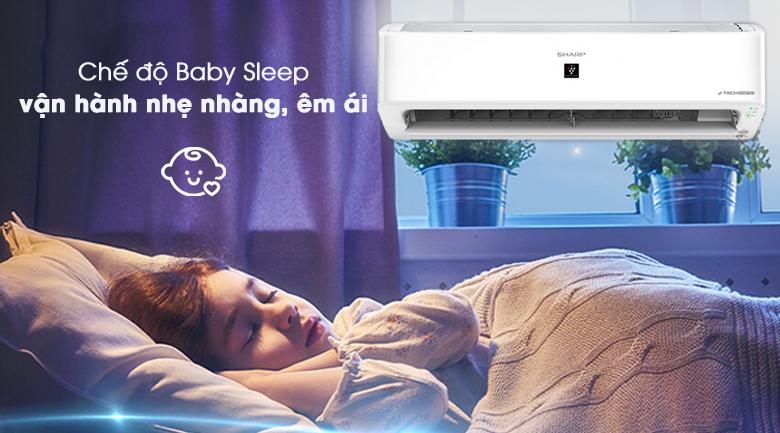 Chế độ baby sleep -Máy lạnh Sharp Inverter 1 HP AH-XP10YHW
