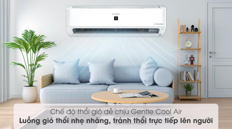 Chế độ thổi gió dễ chịu - Máy lạnh Sharp Inverter 1 HP AH-XP10YHW