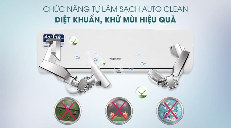 Máy lạnh Nagakawa Inverter 1 HP NIS-C09R2H10 - Tự làm sạch diệt khuẩn