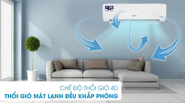 Máy lạnh Nagakawa Inverter 1 HP NIS-C09R2H10 - Cánh đảo gió 4D