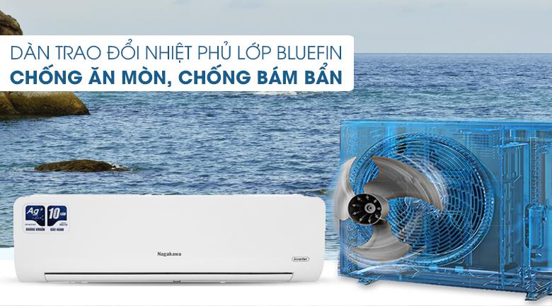 Máy lạnh Nagakawa Inverter 1 HP NIS-C09R2H10 - Chống ăn mòn BlueFin