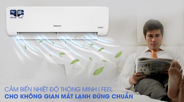 Máy lạnh Nagakawa Inverter 1 HP NIS-C09R2H10 - Cảm biến nhiệt độ thông minh