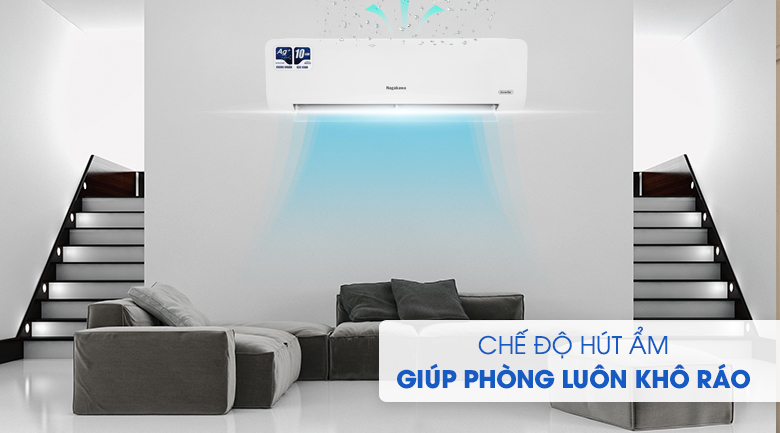 Máy lạnh Nagakawa Inverter 12000 BTU NIS-C12R2H10 - Chế độ hút ẩm