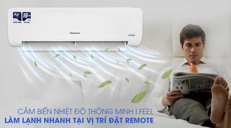 Máy lạnh Nagakawa Inverter 12000 BTU NIS-C12R2H10 - Cảm biến nhiệt độ thông minh