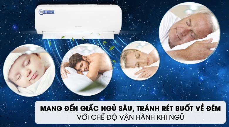 Máy lạnh Nagakawa 1HP NS-C09R2M09 - Chế độ vận hành khi ngủ