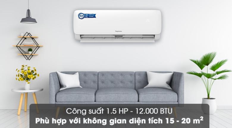 Công suất 12000 BTU - Máy lạnh Nagakawa 12000 BTU NS-C12R2M09