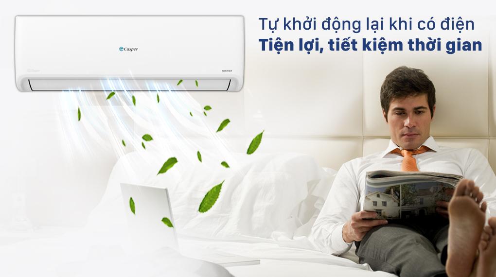 Máy lạnh Casper Inverter 1 HP GC-09IS32 - Ghi nhớ chế độ cài đặt với chức năng tự khởi động lại khi có điện