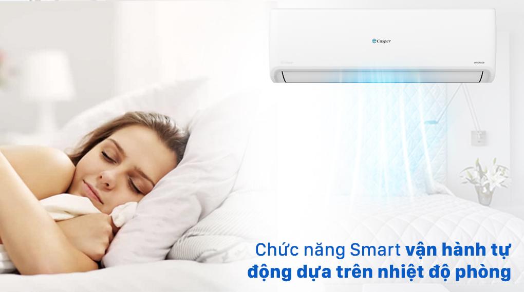 Máy lạnh Casper Inverter 1 HP GC-09IS32 - Duy trì không khí mát lạnh, dễ chịu nhờ chế độ cảm biến nhiệt độ phòng Smart